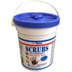 SCRUBS - Vlhčené utěrky (27 X 31 cm) na čištění rukou s antibakteriálním účinkem - balení 72ks R SCRUBS72
