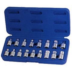 Sada zástrčných hlavic pro výpustné šrouby olejových van 038- 0017