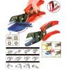 Univerzální nůžky s výměnným břitem a přídavným úhlovým nástavcem UC-912A