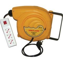 Samonavíjecí buben s elektrickým kabelem a zásuvkami GDT150