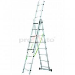 3- dílný hliníkový žebřík 3x 8 příček ALU 308