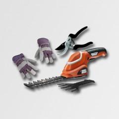 Black & Decker Aku nůžky na trávu 7,2V+nůžky a rukavice - GSL700KIT