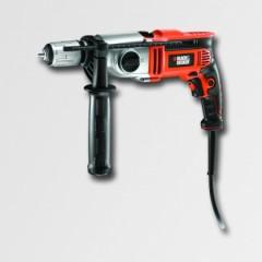 Black & Decker Elektrická příklepová vrtačka 850W, dvourychlostní ,kufr - KR8542K